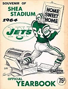 1964 New York Jets Original Yearbook Vintage Rare First Year of Shea Stadium by nfl