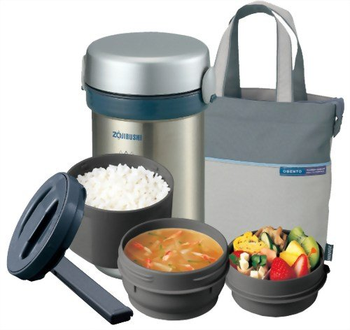 Zojirushi Thermal Stainless Lunch Box BENTO BAKO   SL-NC09-ST (Japan Import) (Zojirushi Thermos Bento compare prices)