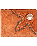 Nocona Men's Leather Basketweave Concho Bi-Fold Wallet