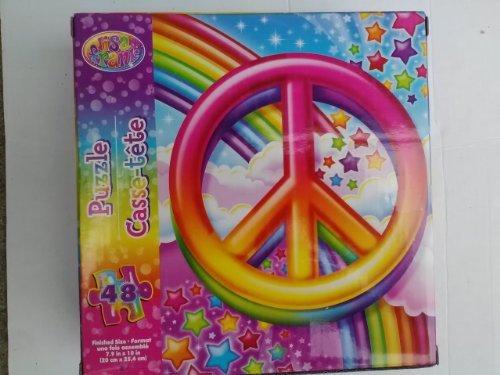 Lisa Frank Rainbow Peace Sign 48 Piece Jigsaw Puzzle
