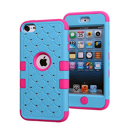 apple-ipod-touch-6-case-asstar-spot-diamond-studded-bling-crystal-rhinestone-3-layers-verge-hybrid-s