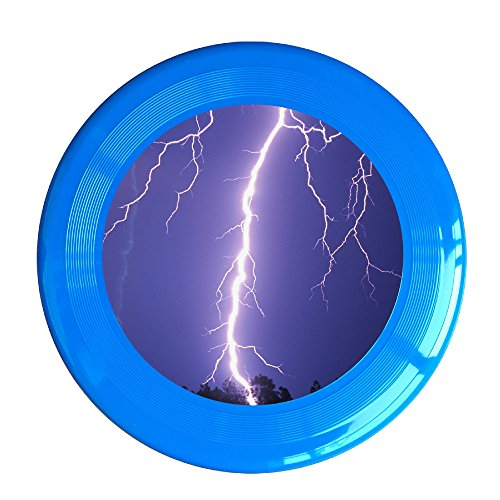 Discovery Wild Lightning Icon Plastic Frisbee Flying Disc - Frisbee Like Toy For Outdoor Game Play - Sports For All