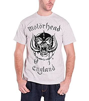 AMPLIFIED CLOTHING Motorhead Vintage England Official Mens New Grey T Shirt