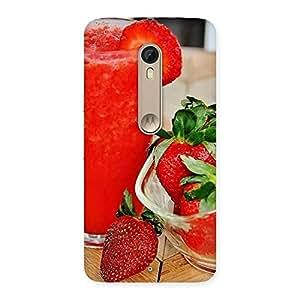 Stylish Straberry Juice Multicolor Back Case Cover for Motorola Moto X Style