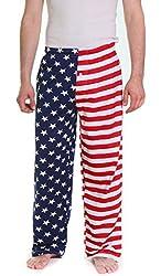 Fun Boxers Men's America Flag Pajama Pants