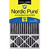 Nordic Pure 16x25x4/16x25x5 (4-3/8 Actual Depth) MERV 10 Pleated Plus Carbon Honeywell FC100A1029 Replacement AC Furnace Air Filter, 16 x 25 x 5