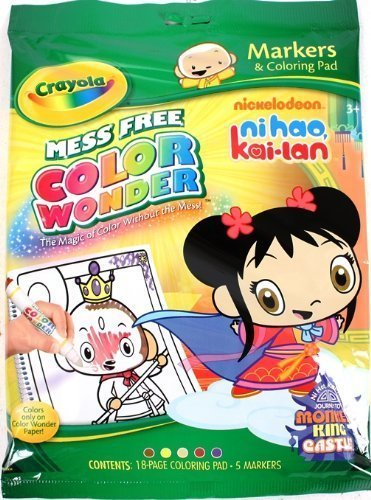 Crayola Color Wonder Nick NI HAO KAI LAN Coloring Pad and Markers - 1