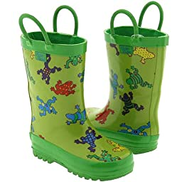 Pluie Pluie Toddler Kids Green Frog Rain Boots 8