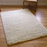 Twilight 39001-6926 Thick Luxurious Shaggy Rug Chalk White