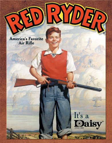 Tin Sign Daisy Red Ryder.