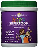 Amazing Grass Kidz SuperFood Powder, Wild Berry Flavor, 6.35-Ounce Canister