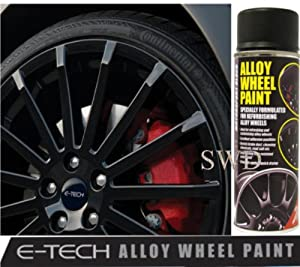 Motorsport Black E-TECH Alloy Wheel Paint Chip resistant Wheel refurb from E-TECh