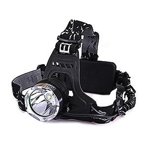 Lampe frontale, imarku Lampe de front/Projecteur Phares LED CREE de Haute Luminosité rechargeable-Grise