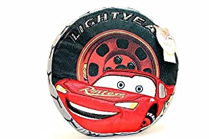 "Disney Pixar Cars Lightning McQueen""LightYear"" Tire Shaped Decorative Pillow at Sears.com"