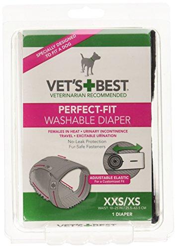 Vet's Best Perfect-Fit Washable Female Diaper – XXS/XS