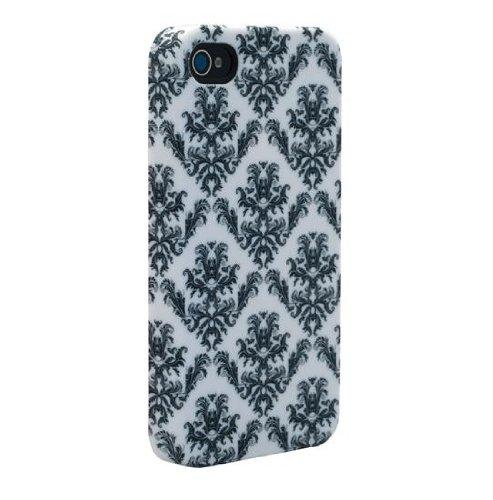 Venom Signature Hard Shell Case For iPhone 4/4S - Fleur de Lys Black & White