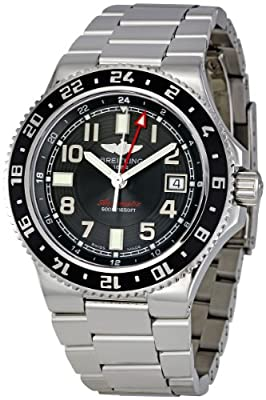 Breitling Men's A3238011/BA38 Aeromarine Superocean GMT Black Dial Watch