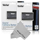 Baterías Vivitar LP-E6 paquete de 2, alta capacidad de 2000mAH Li-ion para cámaras CANON 5D Mark II, 5D Mark III, EOS 6D, 60D, 7D, 7D Mark II, 70D (Canon LP-E6 R).