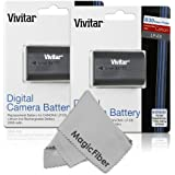 (2 Pack) Vivitar LP-E6 LP-E6N Ultra High Capacity 2000mAH Li-ion Batteries For CANON 5D Mark II 5D Mark III EOS...