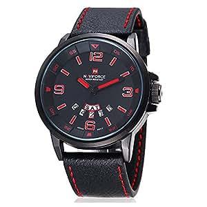 Amazon.com: Fanmis Watches Men Casual Quartz Reloj Black Leather