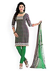 Mayur Women's Cotton Unstitched Dress Material (162034912013_Grey_Large)