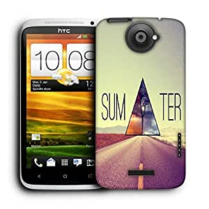 Snoogg Sum Ter Triangle Printed Protective Phone Back Case Cover For HTC One X