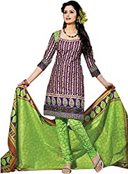 Lamiya Women's Unstitched Salwar Suit (FR7001_Multicolor_Free Size)