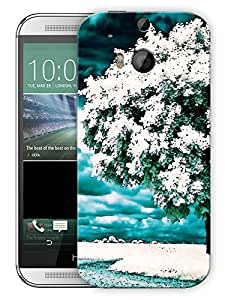 "Snow Covered Tree Printed Designer Mobile Back Cover For ""HTC M8 - M8S"" (3D, Matte, Premium Quality Snap On Case)"