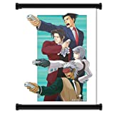 Ace Attorney Phoenix Wright Video Game Fabric Wall Scroll Poster (16