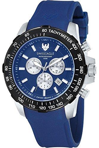 Swiss Eagle Reloj de cuarzo Herzog Azul 45  mm