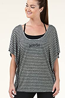 Flutter Sleeve Striped Tee - BASIC MOVES