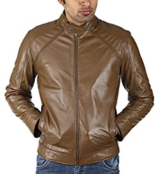Shagoon Emporium Men's Leather Jacket(sh0000_Brown_Small)