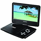 Sylvania 10-Inch Portable DVD Player 5 Hour Rechargeable Battery Swivel Screen with USB/SD Card Reader and Car Bag/Mounting Kit