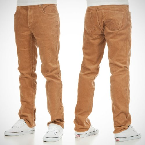 DC Mens Straight Cord Trousers - Rawhide (30