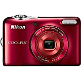 COOLPIX L30 20.1MP 5x Zoom HD Video Digital Camera Red (Certified Refurbished)