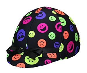 Equestrian Riding Helmet Cover - Happy Face