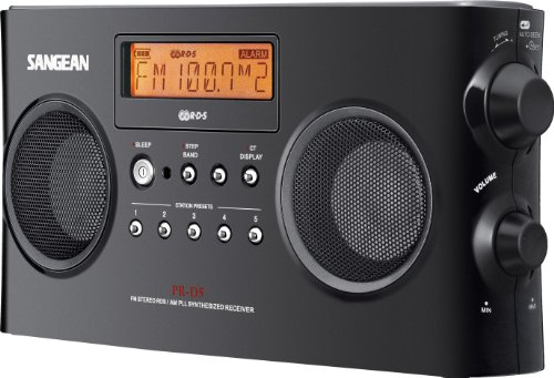 Sangean PR-D5 AM/FM Portable Radio with Digital Tuning and RDS