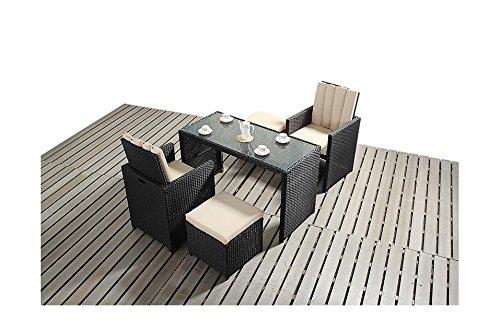 Sydney Urban Garden, 2-Sitzer, Stühle Gartenmöbel Balkon-Set