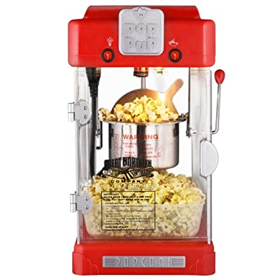 Great Northern Popcorn Machine Pop Pup 2-1/2oz Retro Style Popcorn Popper by Great Northern Popcorn