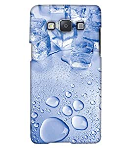 PrintHaat Designer Back Case Cover for Samsung Galaxy Grand 3 :: Samsung Galaxy Grand Max G720F (ice cubes with water drops in light blue)