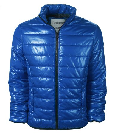 Aeropostale Mens/Juniors Puffer Jacket in Blue - New Season (Large)