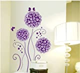 Topro Purple Hydrangea Flowers Romantic Wall Art Stickers Decal for Home Ro...