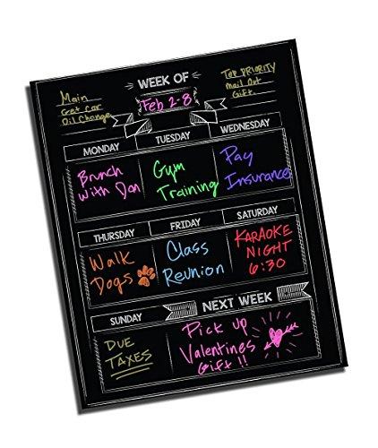 Weekly Meal Planner ● Weekly Calendar ● Dry Erase ● Vinyl Decal Sticker ● Meal Planning Calendar ● Custom Calendar ● Fitness Calendar ● Dry Erase Planner ● Wall Planner ● 16