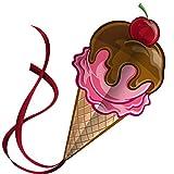 アイスクリームコーンのカイト‐ユニーク、魅力的なデザイン‐子供、大人用のベストセラーカイト‐Eブックの説明書付き‐生涯保証