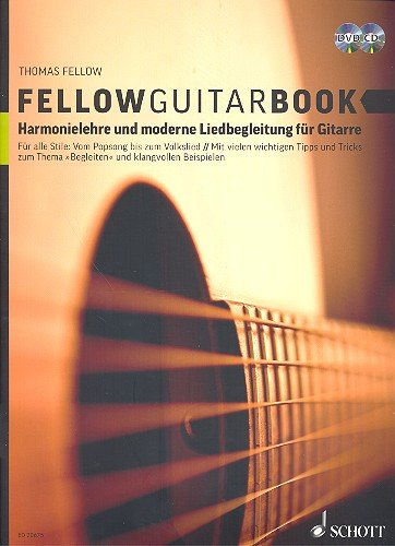 Fellow Guitar-Book: Lezione di armonia e moderna singolo accompagnamento per chitarra con CD + DVD [spartiti] Thomas Fellow