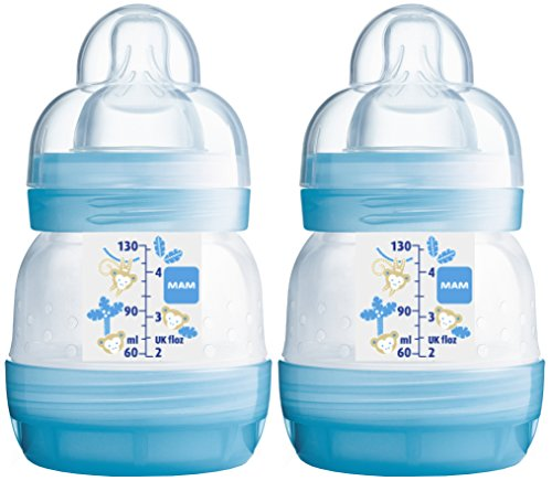 MAM 99902511 - Biberon anticolica da 130 ml, confezione doppia, bambino