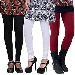 D-Nimes Women's Viscose(Rayon) Leggings-Combo Pack