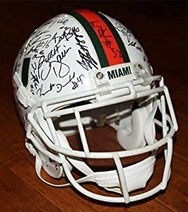 2000 MIAMI HURRICANES - TEAM SIGNED F S Helmet - 2001 National Champs Players -... by Sports Memorabilia