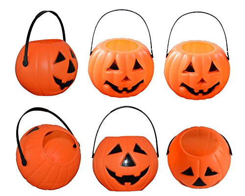 Pumpkin Candy Holder Pumpkin Treat Bucket Worldwide Pumpkin Candy Cups (Pack of 6)