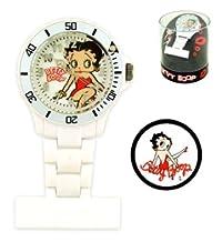 (Betty Boop) Fob Watch (White)